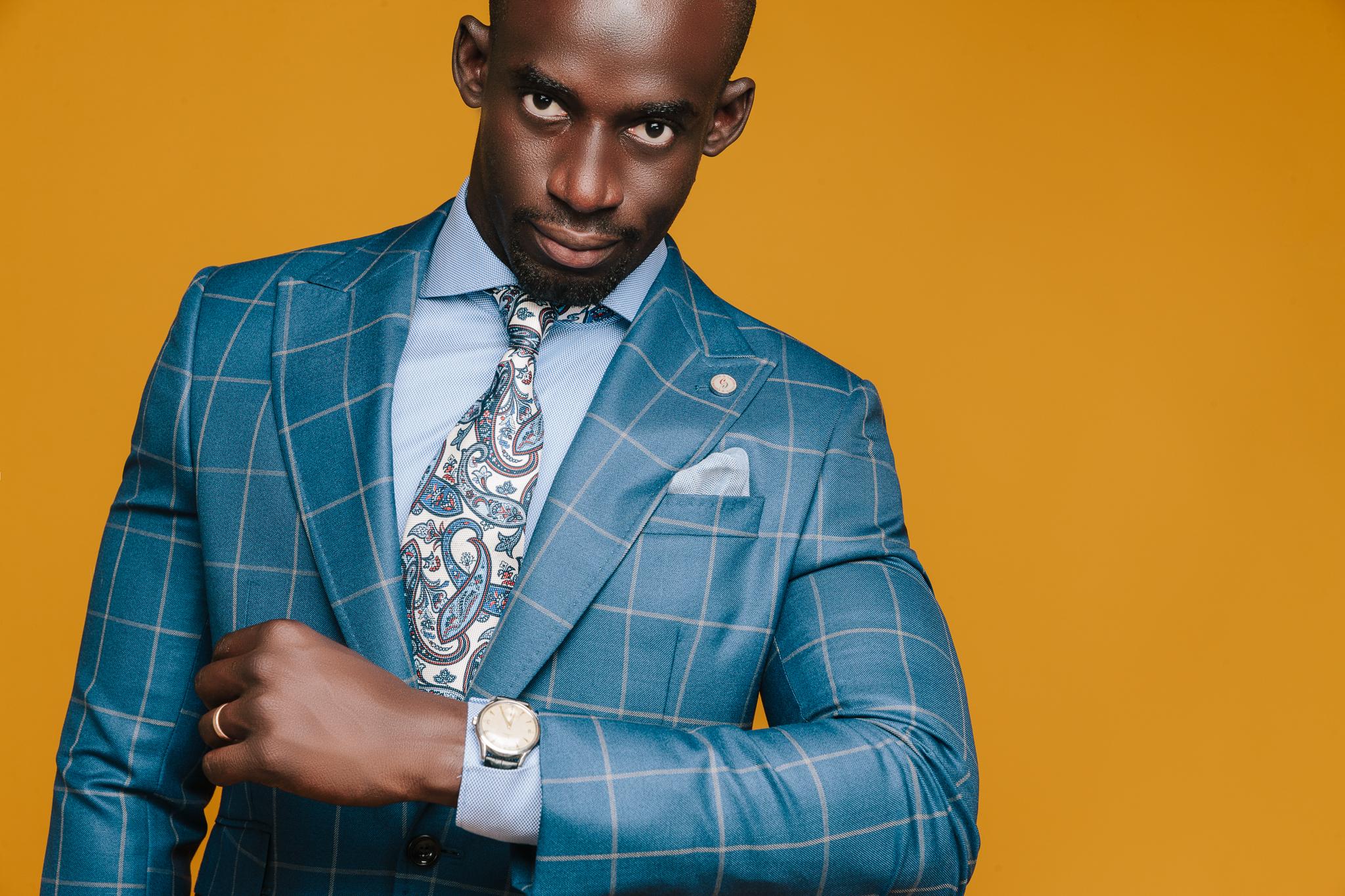 Modebild för Castor Pollux, Man med klocka, reklam